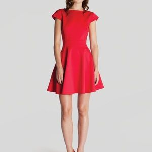Ted Baker Tezz Skater Dress Red Party Cocktail